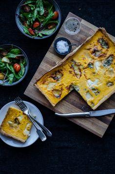 Trish's Ballycross Pumpkin, Goats Cheese and Cashel Blue Tart