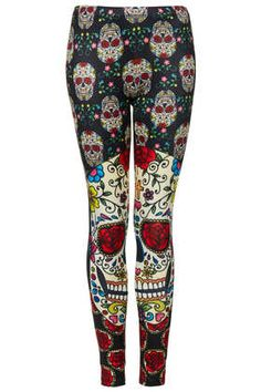**Day Of The Dead Leggings by Freak of Nature - Freak Of Nature - Clothing Brands  - Clothing