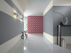 Couleur peinture - Papier peint New Beats de Rasch dans le couloir