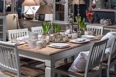Piękne wnętrze, jadalnia - meble z serii Bristol White
