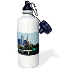 3dRose MI, Detroit, St. Joseph Church, GM Corporation - US23 PSO0009 - Paul Souders, Sports Water Bottle, 21oz
