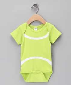 Take a look at this Green Tennis Ball Bodysuit by Team Spirit Collection on #zulily today!
