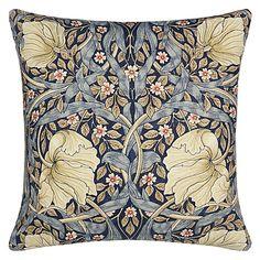 Buy Morris & Co Pimpernel Cushion, Blue Online at johnlewis.com