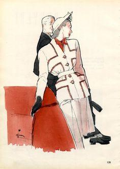 Bruyère 1946 René Gruau, Fashion Illustration