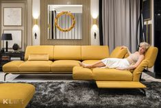 Yellow and Gray Rooms Sofa Skandinavisch, Sectional Sofa Slipcovers, Sofa Furniture, Sofa Set, Yellow Leather Sofas, Leather Sofa Bed, Modern Leather Sofa, Sofa Tables For Sale, Scandinavian Sofas