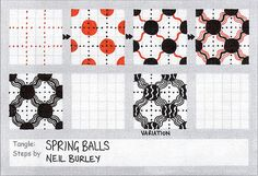 Spring Balls - tangle pattern by perfectly4med