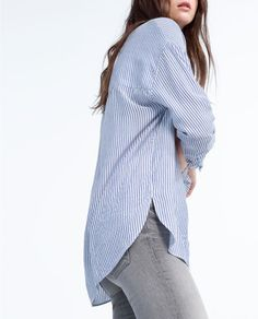Image 2 of OVERSIZED STRIPED SHIRT from Zara