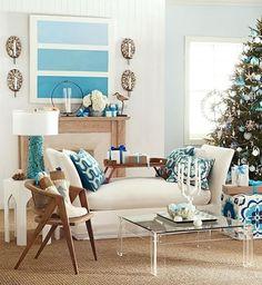 Salas decoradas por navidad...