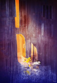 Pascal Campion 184 (With my Dog in the Rain by Pascal Campion)