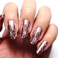 Morganite by LacqueredLawyer from Nail Art Gallery New Years Nail Designs, Nail Art Designs, Geometric Nail Art, Nail Art Blog, Nails Only, New Year's Nails, Classy Nails, Finger Painting, Nail Art Galleries