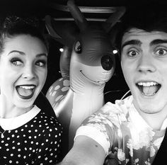 Zoe Sugg and Alfie Deyes // Zoella and PointlessBlog