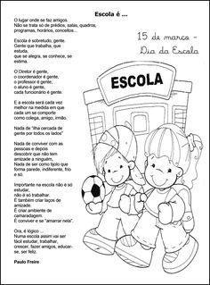 dia da escola pintar - Atividades para Educação Infantil