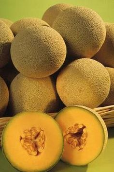 Known as muskmelon and rock melon in different parts of the world, cantaloupe is a fleshy orange melon with coarse dry skin and a sweet sugary taste. Here, we give you the history of this delicious fruit. Growing Cantaloupe, Growing Melons, Cantaloupe And Melon, Growing Seeds, Honeydew, Fruit And Veg, Fruits And Vegetables, Ripe Fruit, Fruit Garden