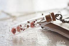 Vero e proprio fiore collana collana di terrario di LiliaLy