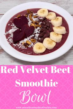 Red Velvet Beet Smoo Red Velvet Beet Smoothie Bowl: An immue boosting smoothie bowl made with roasted beets yogurt bananas spinach and berries Beet Smoothie, Apple Smoothies, Healthy Smoothies, Smoothie Recipes, Healthy Snacks, Vegetarian Breakfast, Breakfast Recipes, Snack Recipes, Breakfast Ideas