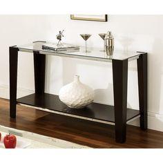 Greyson Living Lancing Glass Top Sofa Table