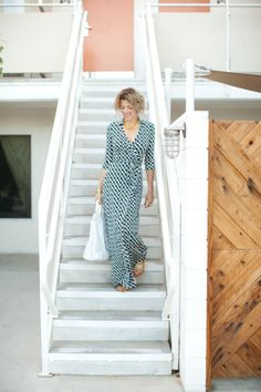 Love this maxi wrap dress!