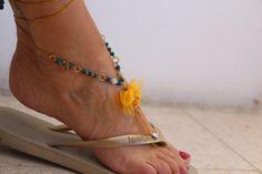Sandalia de pies descalza por ChezGaelle en Etsy