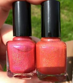 Sweet Heart Polish prototype (as shown  on left, pink linear holo)