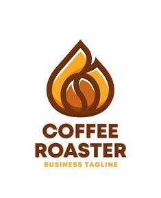 Coffee Roaster Logo Template AI, EPS