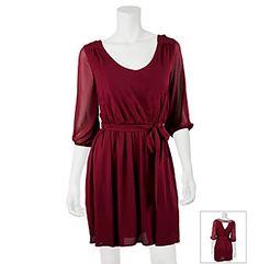 A. Byer Lattice Back Belted Dress