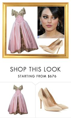 """""""simple prom 101"""" by misplacedperfection ❤ liked on Polyvore featuring Vera Wang and Gianvito Rossi"""