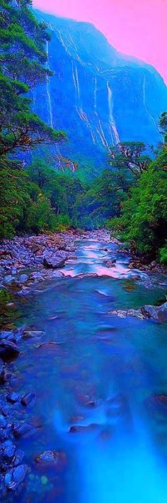 Fiordland National Park in New Zealand.