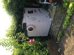 My Pink Allotment Shed