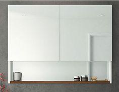 ABL Tile Centre - 1000mm Refelect T2 Shaving Cabinet with Timber Shelf, $1,081.00 (http://www.abltilecentre.com.au/1000mm-refelect-t2-shaving-cabinet-with-timber-shelf/)