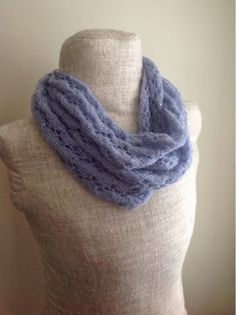 Undeniable Glitter: Periwinkle Lace Infinity Scarf