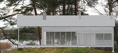 DELIN ARKITEKTKONTOR Compact Living, Scandinavian Home, Prefab, Small Apartments, Tiny House, Garage Doors, Construction, Cabin, Outdoor Decor
