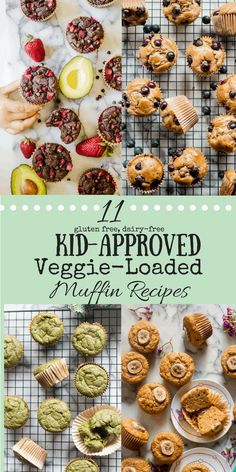 We are all looking for creative and delicious ways to get more of them into our diets. And definitely ways to get more veggies into our kids' diets. Believe it or not, muffins are a great veggie vessel and are a favorite snack and/or breakfast of Baby Food Recipes, Snack Recipes, Breakfast Recipes, Healthy Recipes, Gluten Free Recipes For Kids, Kid Veggie Recipes, Diet Recipes, Healthy Kid Friendly Recipes, Dairy Free Kids Meals