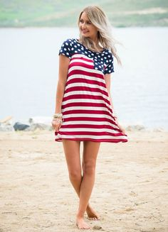 Dress, Short Dress, Polka Dotted Dress, Cap sleeve dress, Pocket Dress, Striped Dress, Red and white striped Dress, Cute, Fashion, Online Boutique. Modern Vintage Boutique