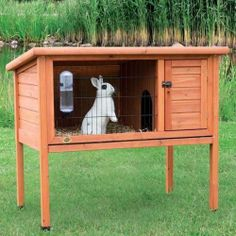 1-story Rabbit Hutch & Pet Cage & Small Animal House Outdoor Indoor Bunny Home