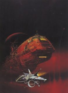 The kind of painting I would have stared at for months as a kid.  By Peter Jones, STRANGLERS MOON, cover for the novel by CHARLES LEADER.
