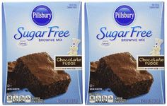 Amazon.com : Pillsbury Sugar Free Mix - Chocolate Fudge Brownie - 12.35 oz - 2 Pack : Grocery & Gourmet Food   $12.79