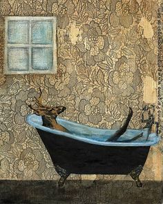 Check out this item in my Etsy shop https://www.etsy.com/listing/243039732/buck-bath-art-print-8x10