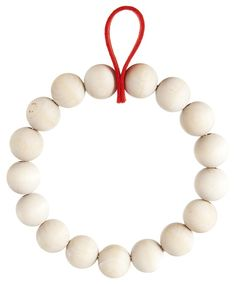 Verso Design Kranssi Natural Birch Wreath Or Trivet With Red Loop - Trouva Christmas Wreaths To Make, How To Make Wreaths, Christmas Crafts, Christmas Design, Christmas Projects, Decor Crafts, Diy And Crafts, Red Felt, Beaded Garland