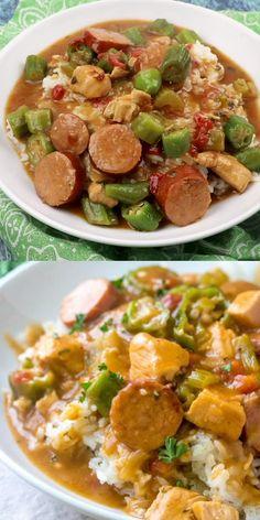 Cajun Recipes, Soup Recipes, Chicken Recipes, Cooking Recipes, Healthy Recipes, Gumbo Recipes, Haitian Recipes, Easy Recipes, Sausage Gumbo