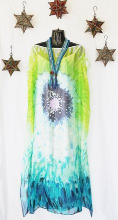 Pure Silk Chiffon Full Length Kaftan by Molly by MollyKaftans, $159.00