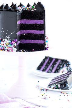Oh, hi! I'm here! And I come bearing twinkly black cake–Glam Rock Layer Cake, to be exact. A sweet celebration of contrast and colour! As you probably remember, I spend most of my days now in the shop
