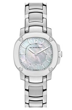 Burberry The Britain Mother-of-Pearl Bracelet Watch, 26mm available at #Nordstrom