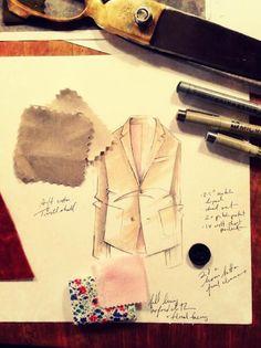 Fashion's Mood Board: 182 Designer Inspirations for Spring 2014 - The Cut Fashion Design Books, Fashion Design Sketchbook, Fashion Illustration Sketches, Fashion Books, Fashion Sketches, Fashion Designers, Drawing Sketches, Drawings, Sketchbook Inspiration
