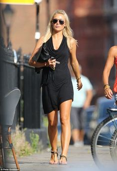 Daytime glam: WAG Alex Gerrard wore a tight LBD as she headed out for lunch with a pal in Liverpool on Saturday