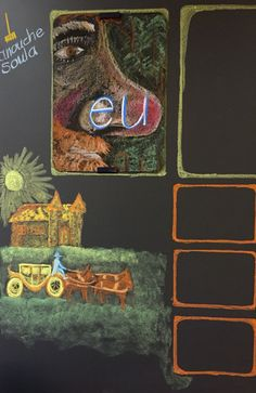 Chalkboard Drawings, Chalk Drawings, Waldorf Crafts, Kids Education, Alphabet, Homeschool, Learning, Drawings, Pictures