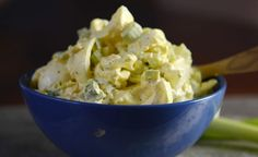 The best egg salad. egg salad recipe in a bowl - reduce salt to tsp or less - Vegetarian Recipes New Recipes, Low Carb Recipes, Vegetarian Recipes, Cooking Recipes, Favorite Recipes, Healthy Recipes, Flour Recipes, Celery Recipes, Salad Recipes