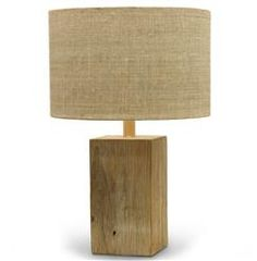 Montauk Coastal Beach Recycled Square Wood Lamp | Kathy Kuo Home