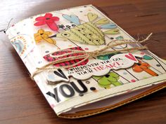 Cute journal with tutorial by Kim Watson for Fancy Pants Designs