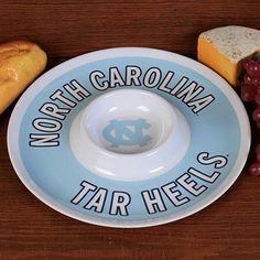 North Carolina Tar Heels (UNC) 12'' Melamine Chip & Dip Tray