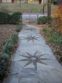 pebble star walkway #1 | this piece is in the neighborhood o… | Flickr